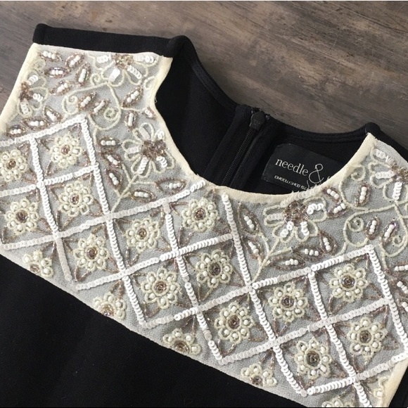 Needle & Thread Dresses & Skirts - Needle & Thread embellished black and white dress